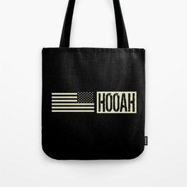 Hooah (Black Flag) Tote Bag