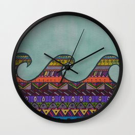 Mandala Waves Wall Clock