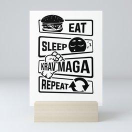 Eat Sleep Krav Maga Repeat - Self Defense Mini Art Print