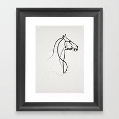 oneline Horse 0301 Framed Art Print