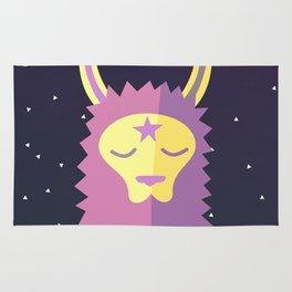 Yacana: The Space Llama Head Rug