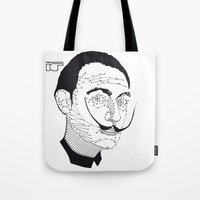 dali Tote Bags featuring DALI by pointing@faces