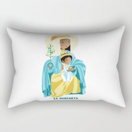 La Moreneta. Virgin of Montserrat Rectangular Pillow