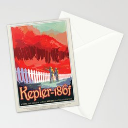 Old Sign / Nasa Kepler 186f / Visions of the future Stationery Cards