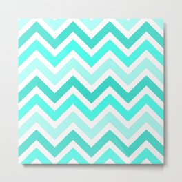 Shades of Turquoise  Metal Print