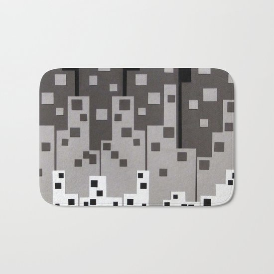 City at Night Bath Mat