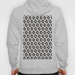 Modern Diamond Pattern 2 Black on Light Gray Hoody