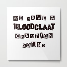 Champion Sound Metal Print