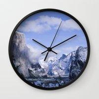 yosemite Wall Clocks featuring Yosemite by Ian Bevington