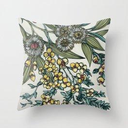 Australian Native Floral Throw Pillow