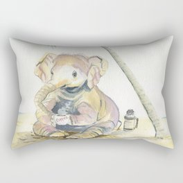 Dreamy Baby Elephant Rectangular Pillow