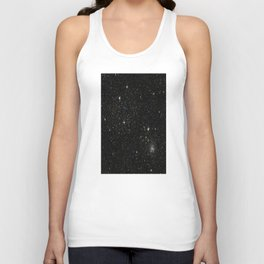 Universe Space Stars Planets Galaxy Black and White Unisex Tanktop