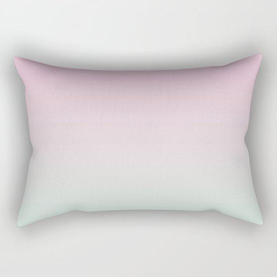 Keelee - ombre pastels minimal canvas art painting sunset nursery baby room art Rectangular Pillow