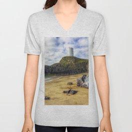 Llanddwyn Island Lighthouse Unisex V-Neck