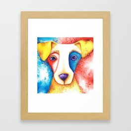 Dog Jack Russell Terrier JRT Original Art Confetti Framed Art Print