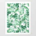 Tropical Jungle on White by tangerinetane