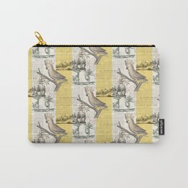 Vintage Cockatoo Toile Carry-All Pouch