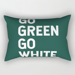 Go Green Go White Rectangular Pillow