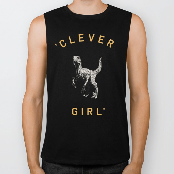 Clever Girl (Dark) Biker Tank