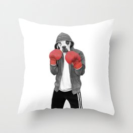 Street boxer Throw Pillow