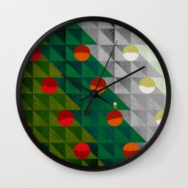 082 - Christmas tree holiday pattern I Wall Clock
