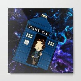 Tardis in space Doctor Who 8 Metal Print