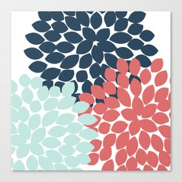 Dahlia Pillow Canvas Print