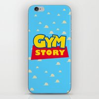 gym iPhone & iPod Skins featuring Gym Story by SuperPrints