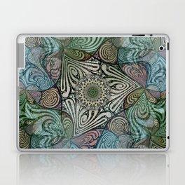 Labyrinth Mandala Blue Green Grey Laptop & iPad Skin