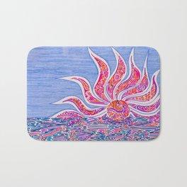 Hectic Sunset Bath Mat