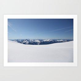 Cloudless Summit Art Print