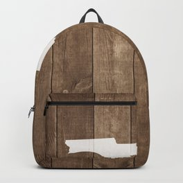 Florida is Home - White on Wood Backpack