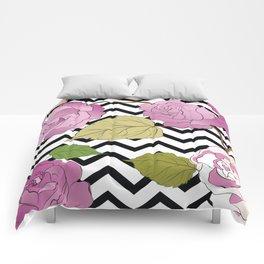 Watercolour Purple Roses VII Comforters