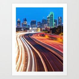 Dallas Downtown City Skyline - Color Art Print