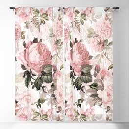 Vintage & Shabby Chic - Sepia Pink Roses  Blackout Curtain