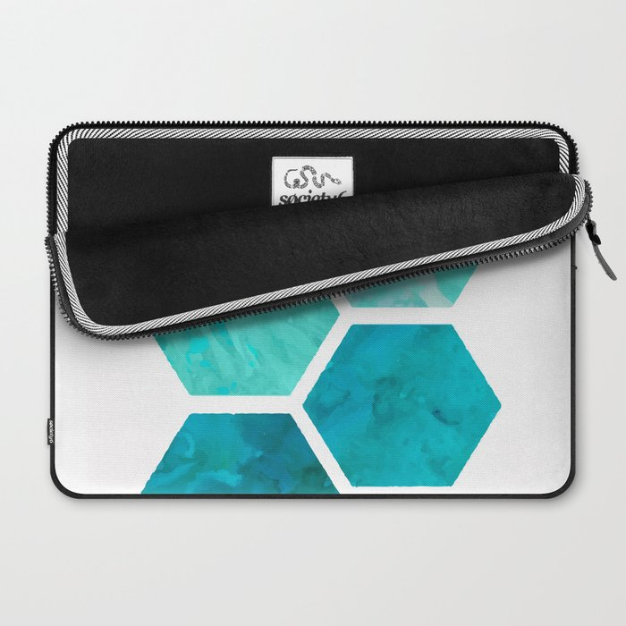 Blue polygon Laptop Sleeve