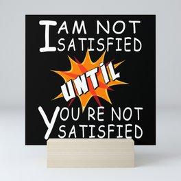 Satisfied Happy Happy Mini Art Print