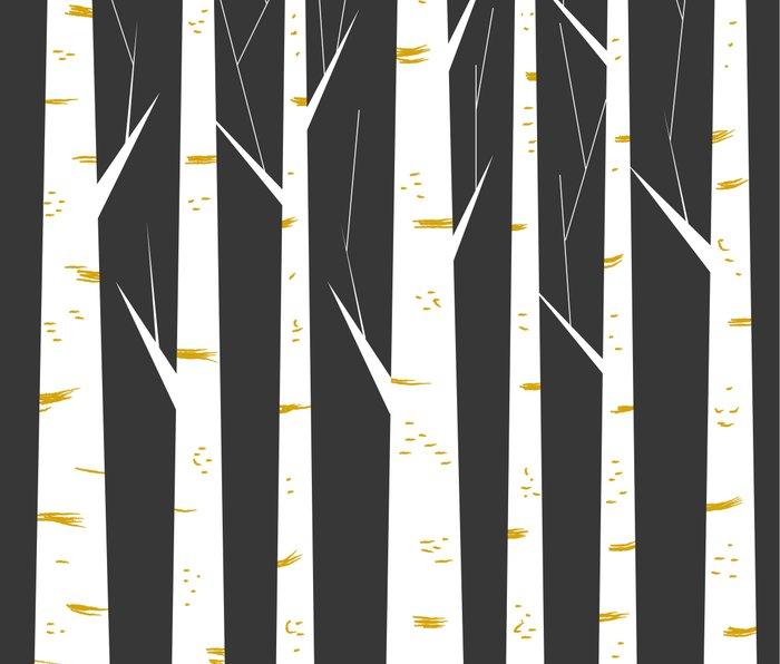 Birch forest Metal Travel Mug
