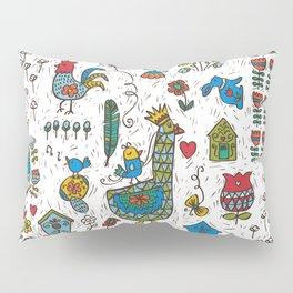 Swedish Folk Art Goose Fable Pillow Sham