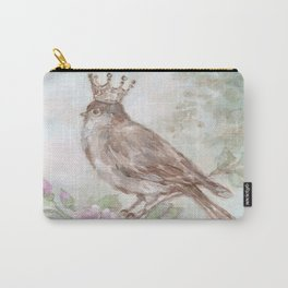 French Crown and Feathers Carry-All Pouch