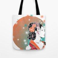 geisha Tote Bags featuring GEISHA by ARCHIGRAF