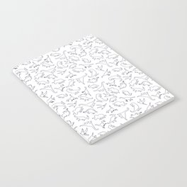 Dinosaurs Outline Pattern Notebook