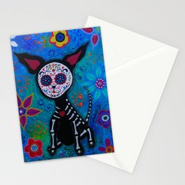 Dia de los Muertos Chihuahua Mexican Painting Stationery Cards