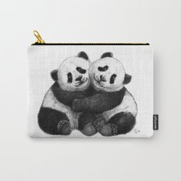 Panda's Hugs G143 Carry-All Pouch