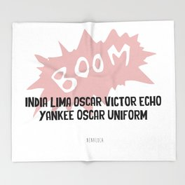 Boom Throw Blanket