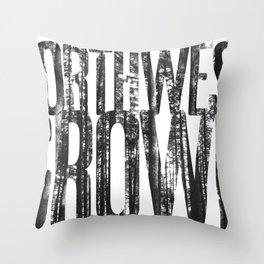 NORTHWEST GROWN Throw Pillow