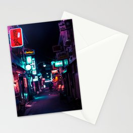 Late Night in Shinjuku's Golden Gai Stationery Cards