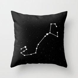 Scorpio Star Sign Night Sky Throw Pillow