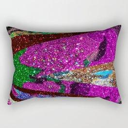 Fuschia Outer Space Forest Explosion Rectangular Pillow