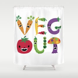 Veg Out Shower Curtain